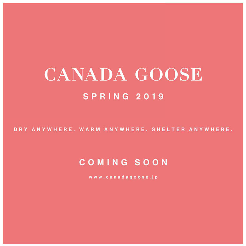 CANADA GOOSE 2019 SPRING NEW COLLECTION